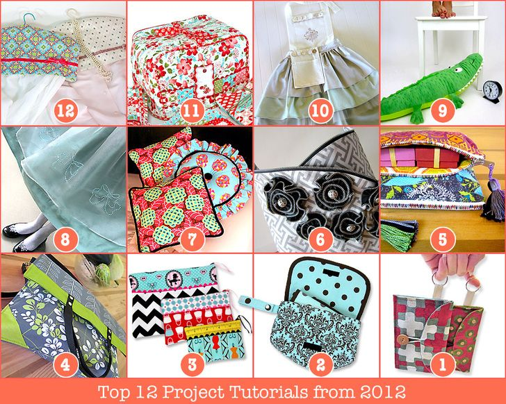 Top 12 Project Tutorials from 2012   Sew4Home