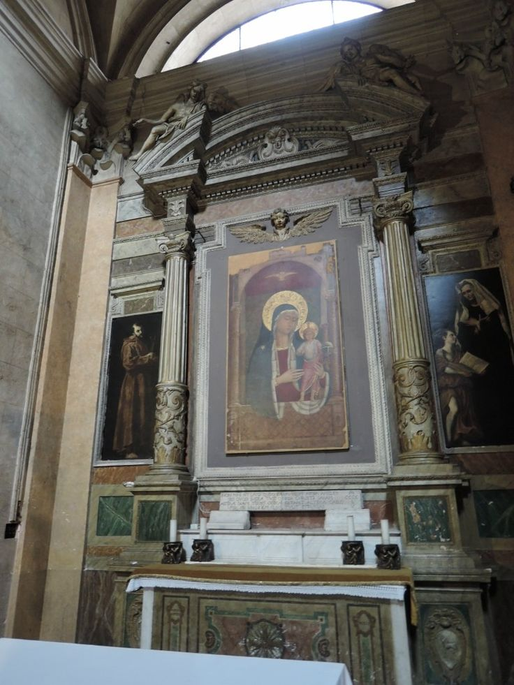 DSCN5954.JPG Мадонной и младенцем. Беноццо Гоццоли (1449).  S. Maria sopra Minerva, Рим.