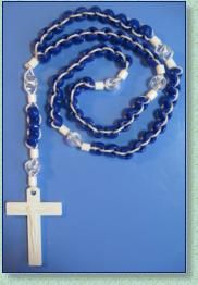 Pony Bead Rosary - ROSARY MAKERS GUIDE (Similar to this but with room to slide the beads as you count them off.)