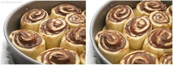 Brioche con crema de chocolate y avellanas - MisThermorecetas.com