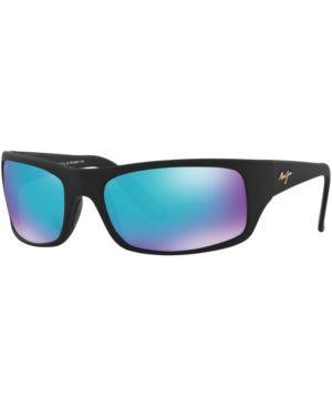 Maui Jim Sunglasses, 202 Peahi, Blue Hawaii Collection - Black