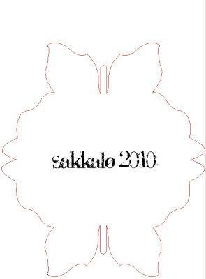Sakkalo - ganske enkelt: Sommerfuglstaffelikort - med mal