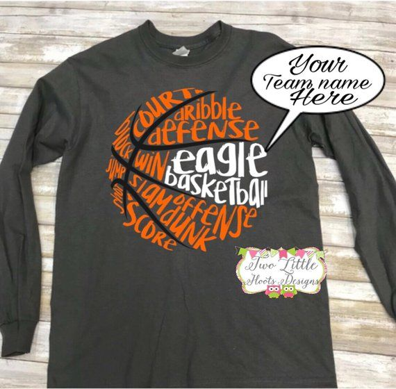 Basketball Personalized Long Sleeve Tee Basketball Team Name Basketball Basketball Basketball T Shirt Designs Basketball Shirt Designs Team Shirt Designs