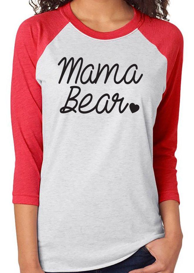 Mama Bear. Mama Bear Baseball Shirt. Mommy To Be. Thanksgiving Day Shirt. Mom Life Shirt. Momma. Baby Bear. Mommin Ain't Easy. Christmas Day