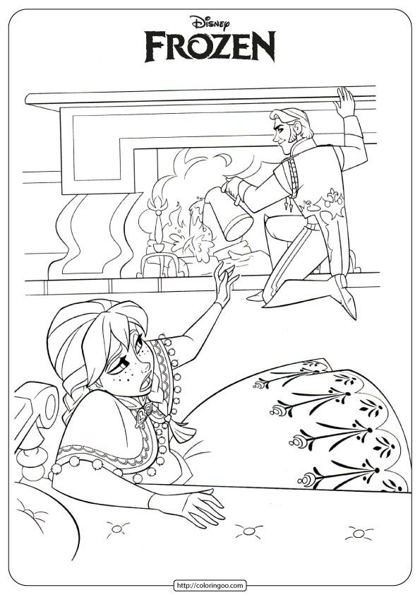 Anna Hans Coloring Page Frozen Coloring Pages Frozen Coloring Disney Coloring Pages