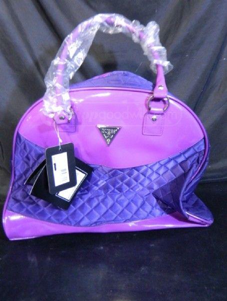 shopgoodwill.com: New Guess? Metro Retro Violet Travel Handbag