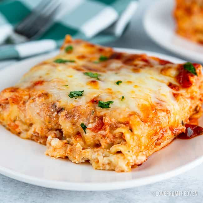 Easy Cheese Lasagna Recipe Love From The Oven In 2021 Easy Lasagna Recipe Easy Lasagna Cheese Lasagna Recipe