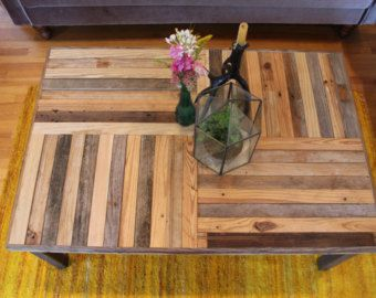 Reclaimed Chevron Pallet and Barn Wood Coffee by newantiquity