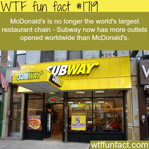 What is the largest Restaurant chain in the world? - WTF fun facts