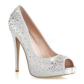 Shop for Women s Fabulicious Heiress 22R Silver Shimmering Fabric. Free  Shipping on orders over  45 29f852f37a13