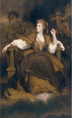 -Joshua Reynolds, Mrs. Siddons ad the Tragic Muse, 1784  -18세기 영국의 초상화는 변화하는 이상적인 인물상과 그 배경이 되는 사회의 변혁을 보여준다.  -'위대하고 장엄한' 초상화를 만들어낸 레이놀즈에 대한 조사를 해볼 것.