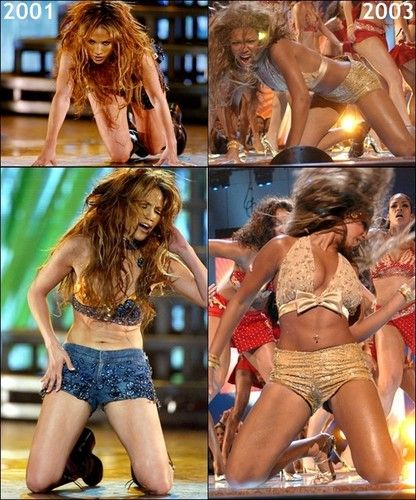 Jennifer Lopez 2001 vs Beyonce 2003 Beyonce copies JLo ...