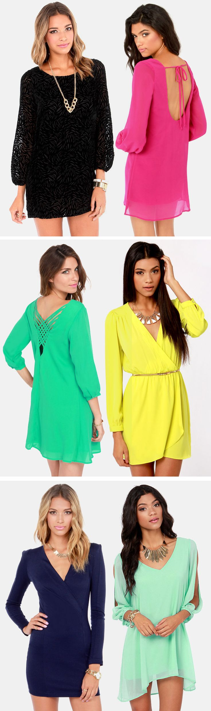 Long Sleeve Dresses via lulus.com