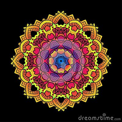 O Fractal psicadélico étnico Mandala Vetora Meditation olha o gosto