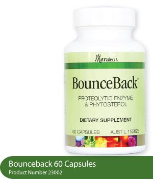 BounceBack capsules help aid the body's natural recovery process and supports the body's general health and wellbeing, ensuring the body's movements are sustained so that it causes less discomfort when doing everyday activities. https://www.mannatech.com/en/AU/Shopping/Products/23002