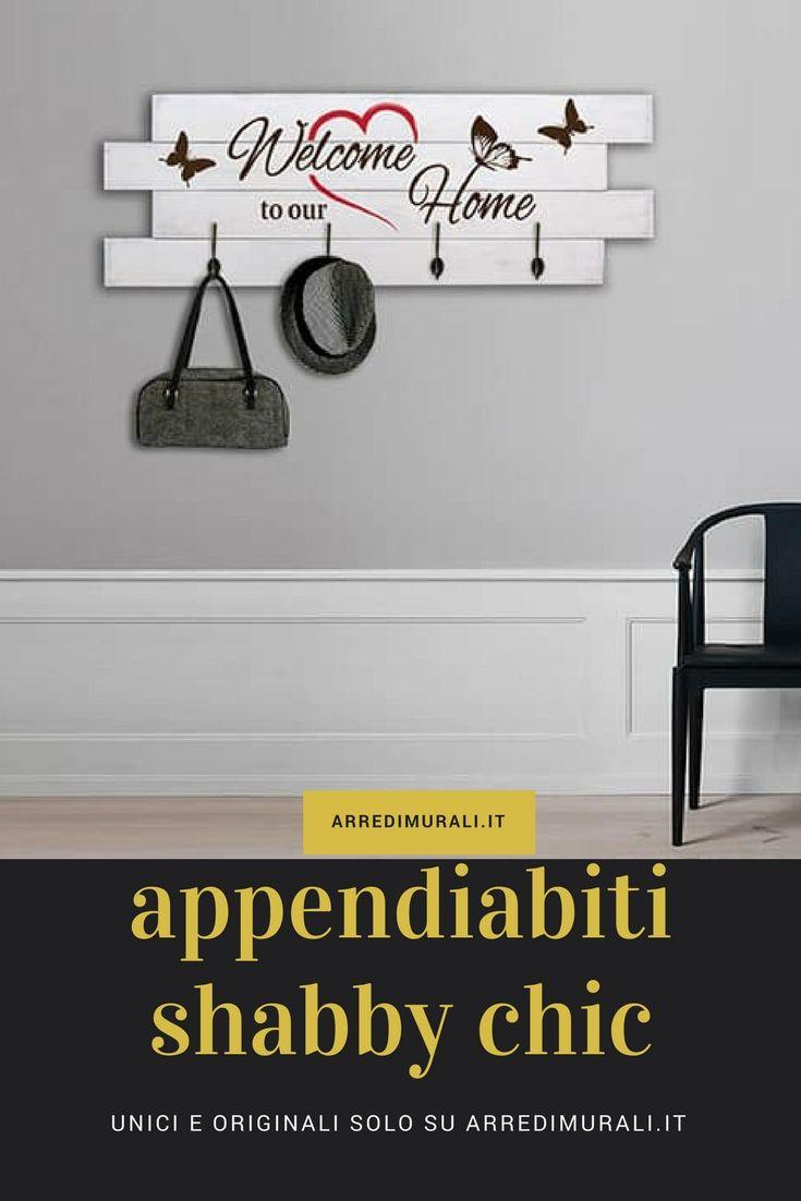 Appendiabiti Murali.Pannelli Da Parete Shabby Chic Appendiabiti In Legno P68 Shabby