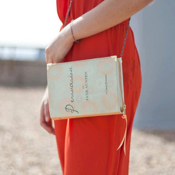 Jane Austen Persuasion Book Clutch. @Amanda Snelson I think this might become a necessary book club purchase.