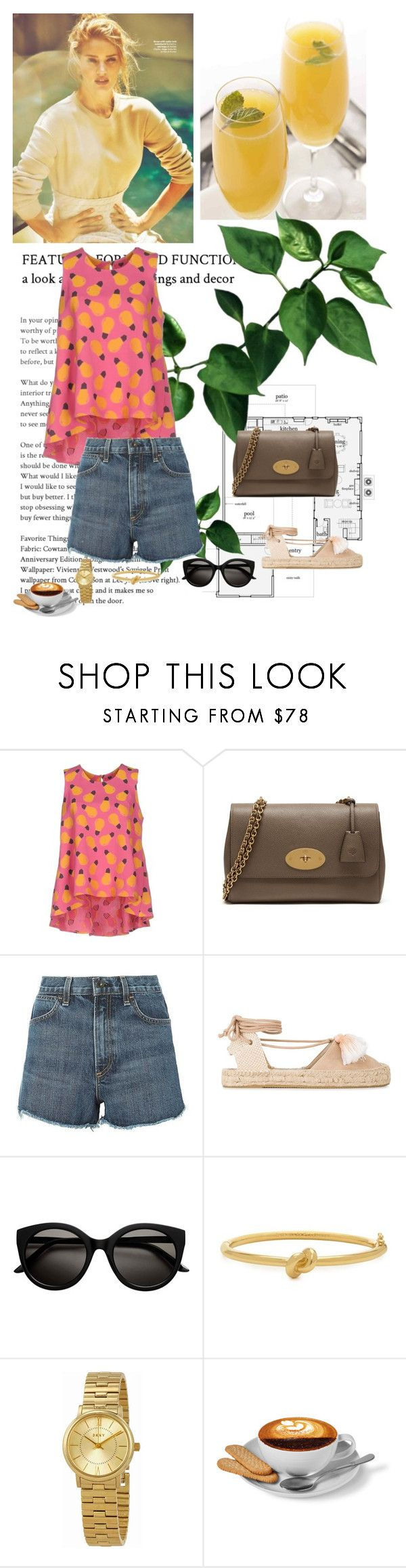 """""""Free"""" by ladyhysteria ❤ liked on Polyvore featuring Whiteley, Ultra'Chic, Mulberry, rag & bone, Soludos, Kate Spade and DKNY"""