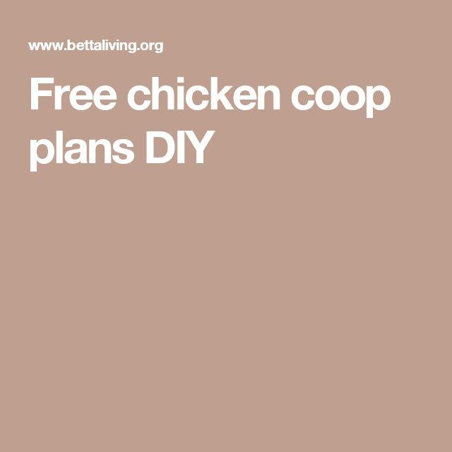 Free chicken coop plans DIY
