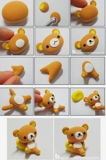 Instructions to Make a 3D Fondant Little Bear.