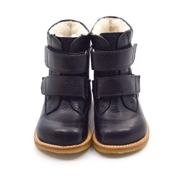 GrowingFeet.de - Angulus TEX Stiefel mit Klettverschluss, schwarz