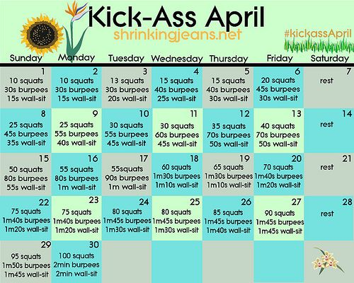 April Workout Challenge