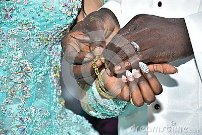 Israel, Negev, 2016 - Hands Skinned Bride And Groom Exchanged Gold Rings. Bride In A Turquoise Dress - Download From Over 57 Million High Quality Stock Photos, Images, Vectors. Sign up for FREE today. Image: 76694169