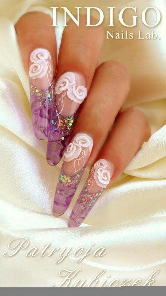 Acrylic Nails water effect