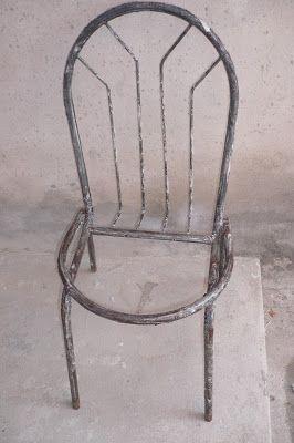 FAZENDO ARTE: Reforma de Mesa e Cadeiras Tubular