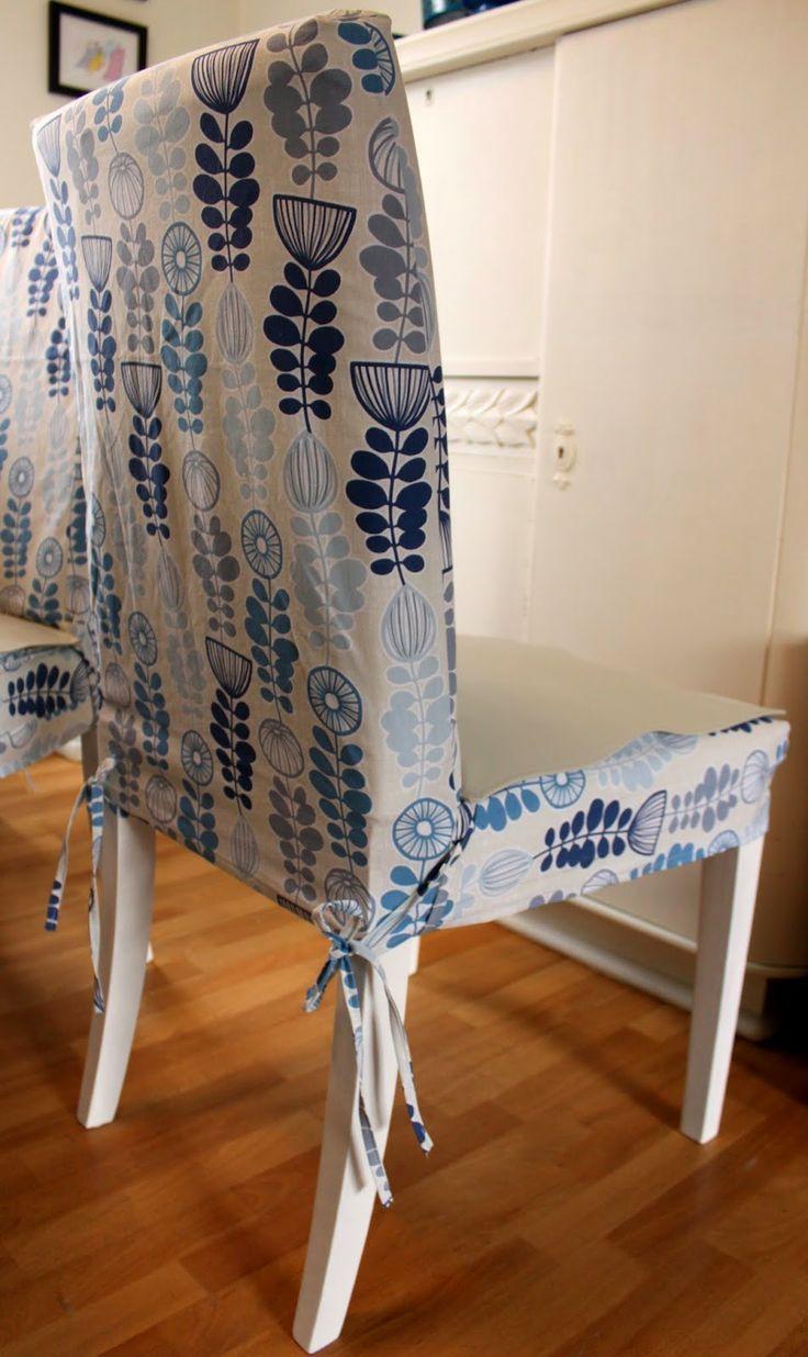 EllenSand Nye Trekk Til Spisestuestolene New Loose Covers For My Dining Chairs Tutorial
