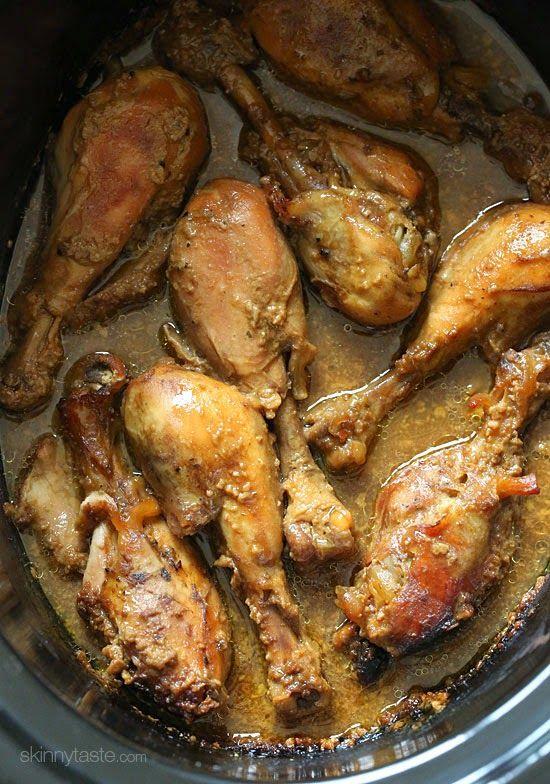 Crock Pot Maple Dijon Chicken Drumsticks | Skinnytaste