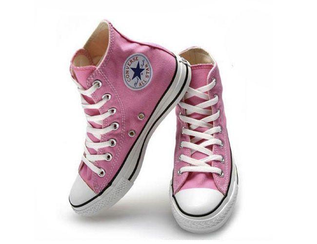 High top Pink converse sneakers US$19.99 http://www.aliexpress.com