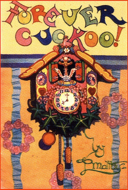 Funny Colorful Vintage Children's Book Cover--Forever Cuckoo!