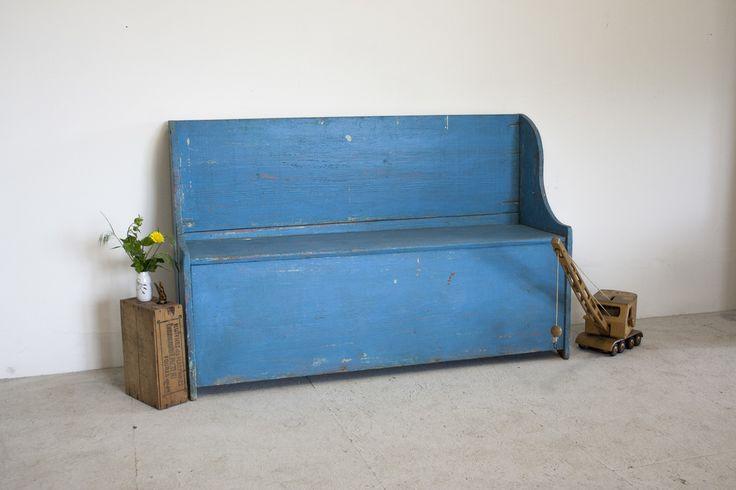 Blauwe vintage klepbank 1.jpg