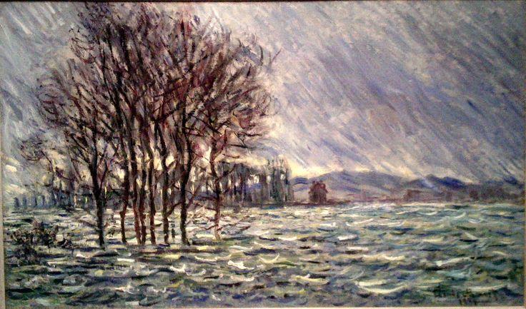 Monet - Overstroming (1881) (Gezien in Groninger Museum)