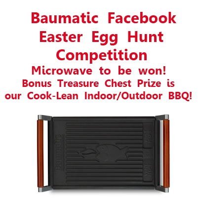 Piranha Egg-citing Easter Egg Hunt on Facebook! Win a Microwave - and this Indoor/Outdoor BBQ, if you mention it in your facebook competition entry!