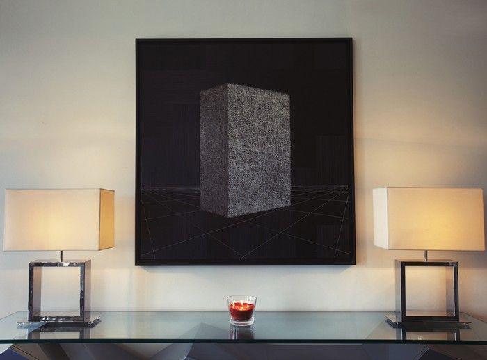 Un tableau graphique noir  www.michele-boni.com