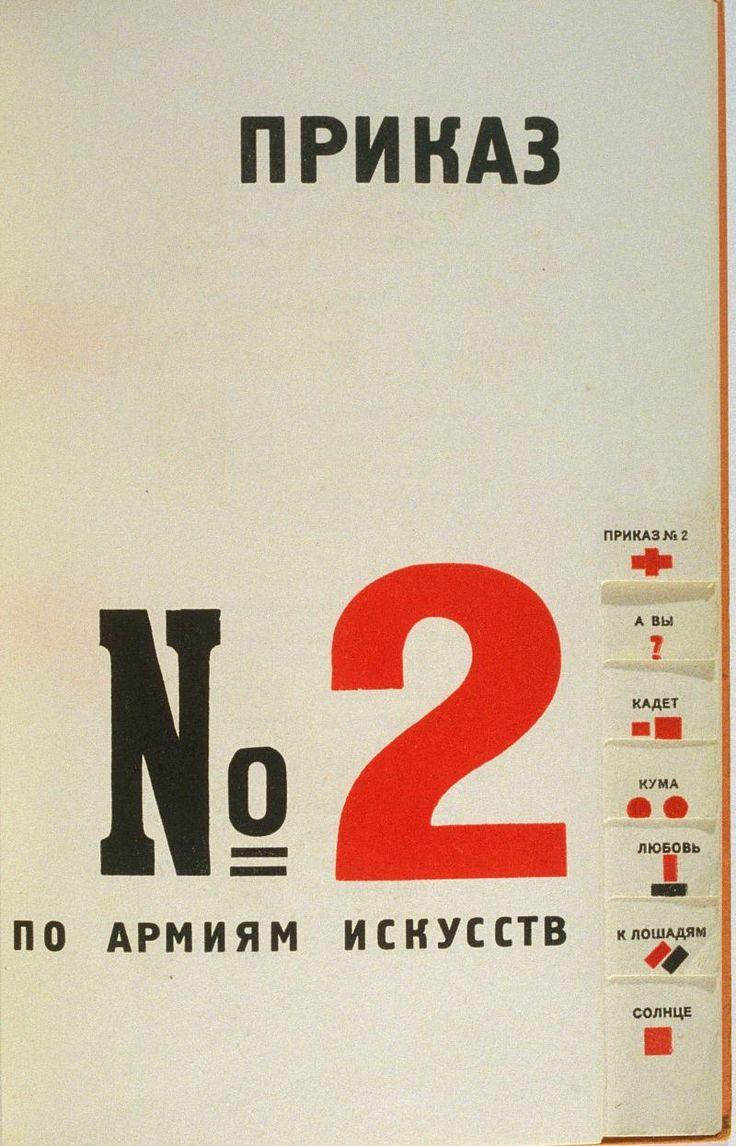 El Lissitzky typography, Russian Revolutionary era approx. 1919