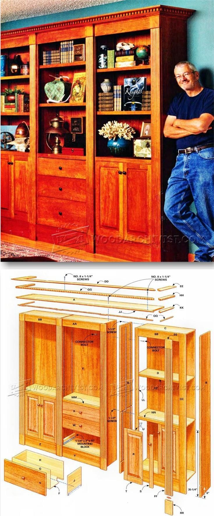 Classic Bookcase Plans - Furniture Plans and Projects | WoodArchivist.com
