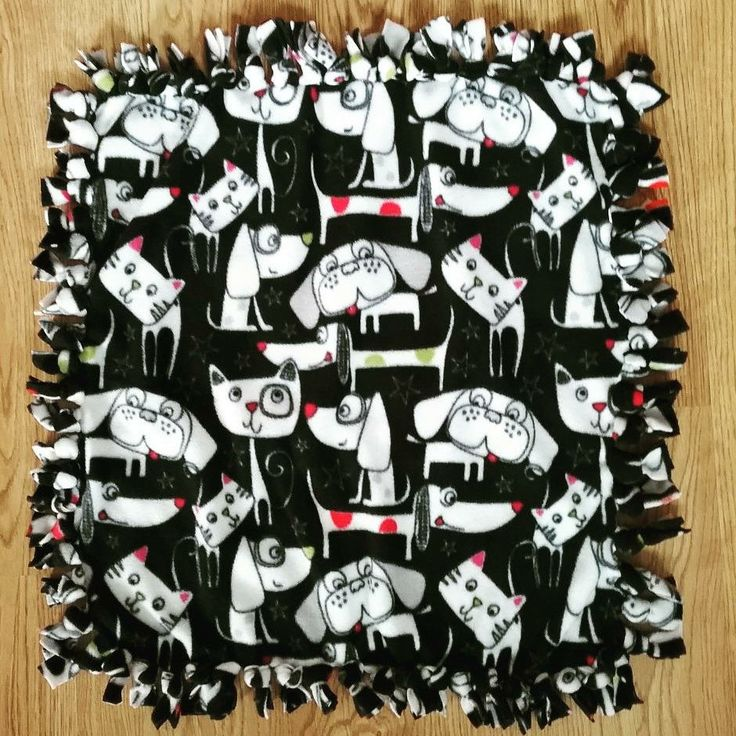 Hand tied fleece blanket: purrfect Christmas gift for the fur baby in your life!