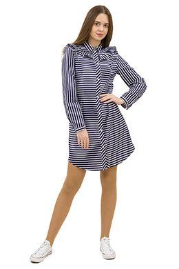 Платье-рубашка в полоску T-shirt dress in stripe Doctor-e.ru