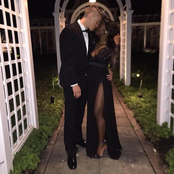 Gorgeous black tie interracial couple #love #wmbw #bwwm