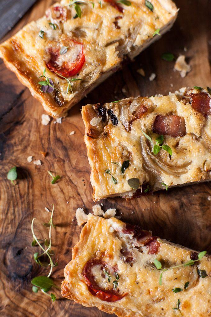 Bacon Tomato Quiche. www.wildeorchard.co.uk
