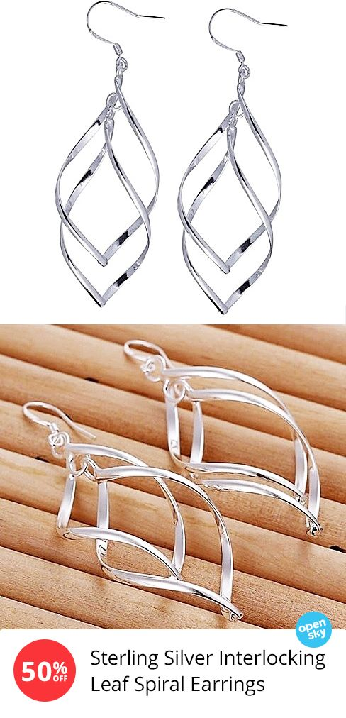 Add a unique touch to any look with these beautiful sterling silver earrings. Featuring a one-of-a-kind spiral design that's both elegant and eye-catching, these flattering earrings make for the perfect outfit topper and are just as comfortable as they are stylish for all-day wear.