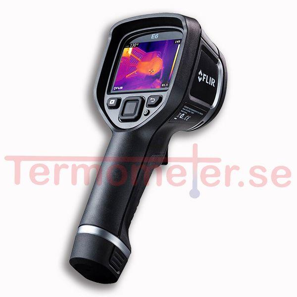 http://www.termometer.se/Handinstrument/Varmekameror/Flir-E8-nar-du-behover-varmekameran-som-ar-bast.html  Flir E8 när du behöver värmekameran som är bäst - Termometer.se  NYHET! FLIR E8: Se vad andra inte kan se! Nu 2 års garanti!   För första gången i historien erbjuds du en värmekamera med bild-i-bild-funktion till ett pris strax över 10.000 kr! Underlättar och tydliggör dina inspektioner och dokumentationer på ett tidigare oöverträffat sätt.    Nya FLIR E8 är den ultimata...