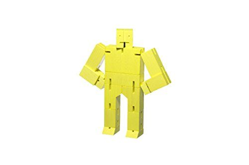 AREAWARE - Cubebot SMALL Yellow - Spielzeugroboter Klein Gelb