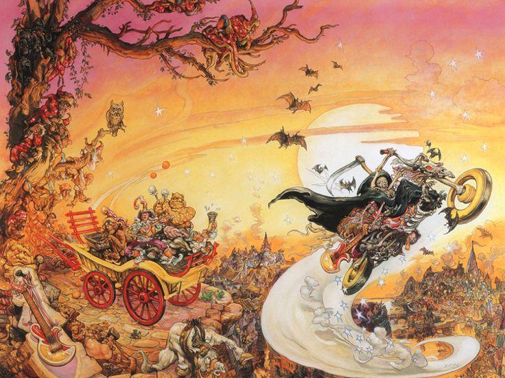 Иллюстрация художника Джоша Кирби к роману «Роковая музыка»