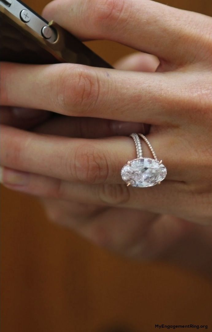 beautiful oval-shaped diamond