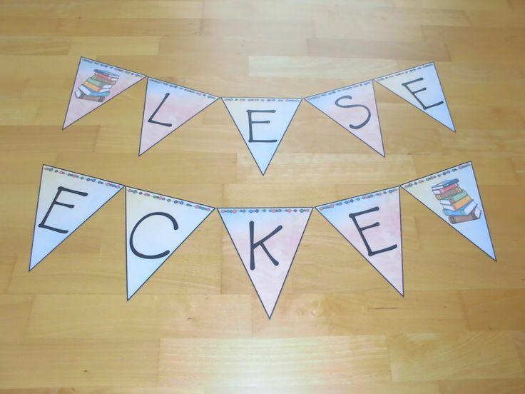 materialwiese: Wimpelkette für die Leseecke in der Grundschule