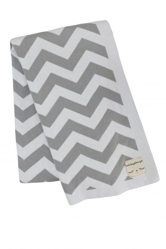 Miniroom | Ledikantdeken zigzag grijs